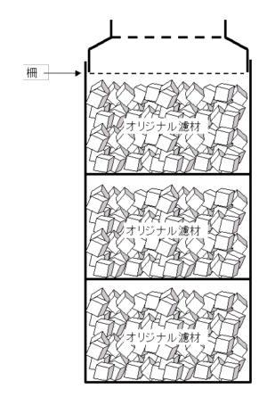 洗車スポンジ濾材を使った外部式フィルターの構造図