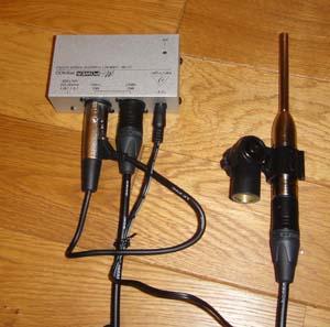 計測用マイクロフォンAUDIX TM1とファンタム電源