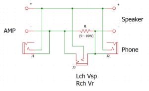 インピーダンス特性測定冶具の回路図