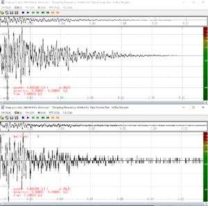 CDとハイレゾの音源サンプルの波形を比較したグラフ