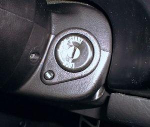 R32スカイライン イグニッションキーの差し込み口