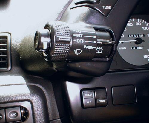 R32スカイライン ワイパーのスイッチ操作部