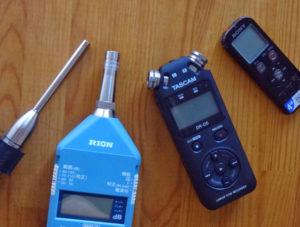 いろいろな音の測定器
