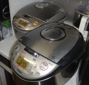 ナショナルとタイガーの炊飯器