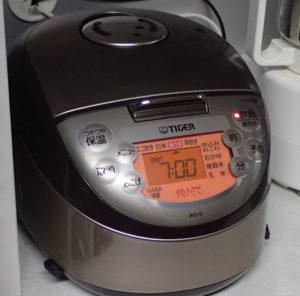 3合炊きの炊飯器 タイガー炊きたてミニJKO-G550-T