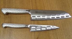 片岡製作所のステンレス包丁 Brieto-M12pro 三徳とペティナイフ