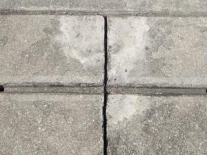 側溝の割れを補修して4年後の様子