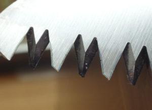 サムライ 240mm FC-240-LH の歯の拡大