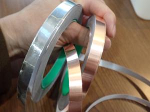 10mm幅のアルミと銅の金属テープ