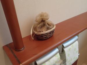 トイレに設置した自然風の芳香剤