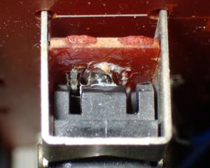 ICF-6800Aメインスイッチの接点