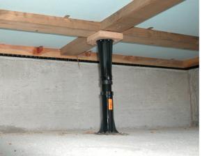 床下に設置されたプラ束