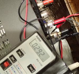 ヤマハ RX-S600のギャングエラーを測定している様子