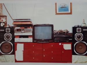プロフィールHGとヤマハNS-1000Mで構成したホームシアター(1987年頃)