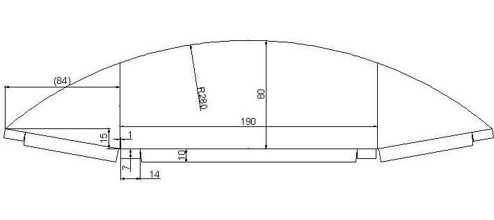 カーナビ用遮光フードの展開図