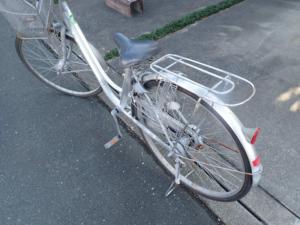 亜鉛メッキ塗料施工後6年の自転車の様子