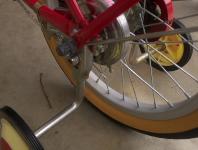 自然塗料を自転車の鉄部に塗布した例