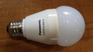 熱で焦げ目の付いたパナソニックのLED電球