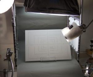 ニコン18%標準反射板を撮影している様子