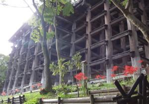 清水寺舞台下の格子構造