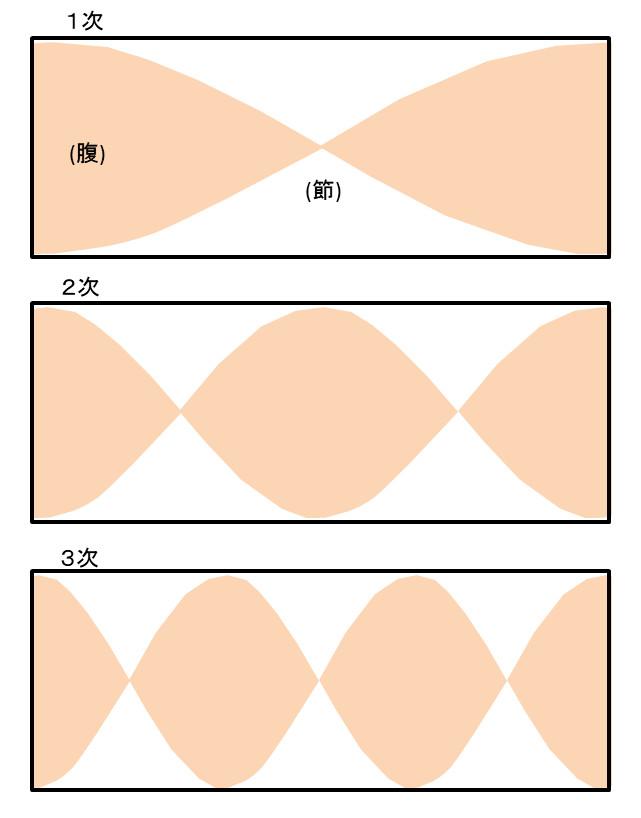 定在波が立った時の音圧分布図