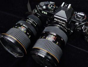 フィルム時代の大口径ズームの例トキナーATX24-40 F2.8とATX35-70 F2.8