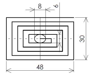 スティックの先端を半分オーバーラップさせながら5周させた場合の軌跡