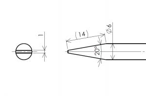 標準的なクリーニングスティックの加工図