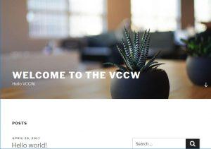vccwが無事に終わると見ることができる Hello world の画面