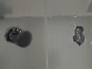 無水エタノールとイソプロピルアルコールにCPUグリスを混ぜた結果