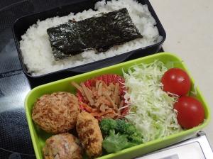 冷凍食材を使ったお弁当の例