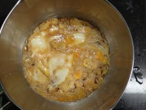 鍋に蓋をして卵を固めた結果