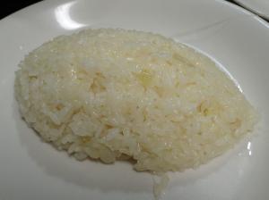 メロン型で整形したバターライス