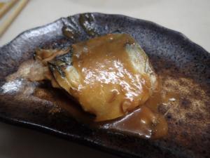 臭み抜きした鯖で作った味噌煮
