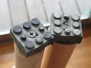 ぎっくり腰用に作った杖の下側