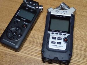 ZOOM H4nProとTASCAM DR-05