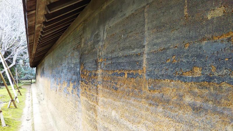 龍安寺の石庭土壁