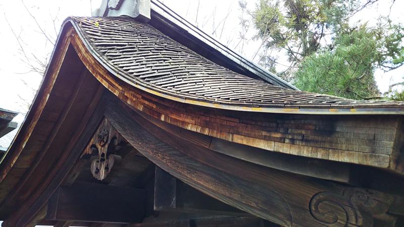 龍安寺の石庭屋根拡大