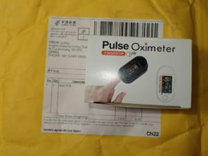中国から届いた血中酸素濃度計
